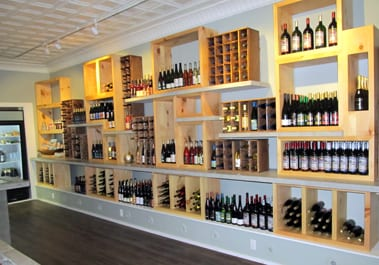 The Tasting Room features wines from throughout the Finger Lakes.