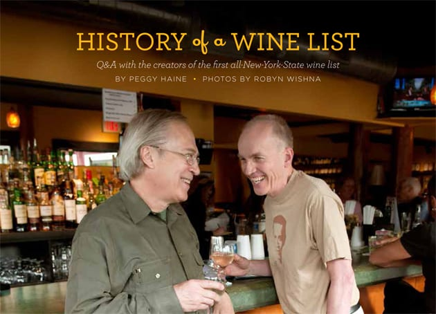 History of a Wine List