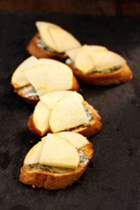 Apple and Blue Cheese Crostini | Edible Finger Lakes